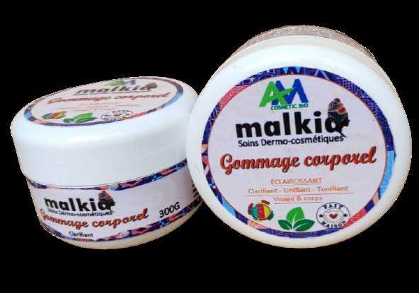 Malkia - Gommage corporel clarifiant au bois de Santal et la poudre de riz