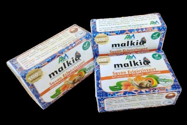 Malkia - Savon éclaircissant et Antiseptique au curcuma et à la carotte